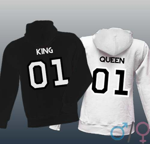 fad85739a WASD-Shop : Mikiny pro pár s potiskem King 01 a Queen 01 - WASD ...